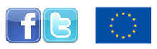 Facebook and Twitter, EU logo